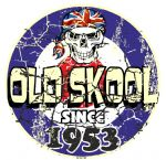 Distressed Aged OLD SKOOL SINCE 1953 Mod Target Dated Design Vinyl Car sticker decal  80x80mm
